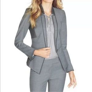 WHBM Women's Modern Blazer wool Blend Size 8 gray